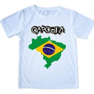 חולצת קפוארה מפת ברזיל