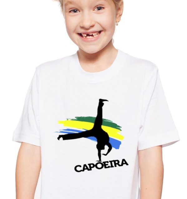 חולצת קפוארה גלגלון לילדות 100% כותנה