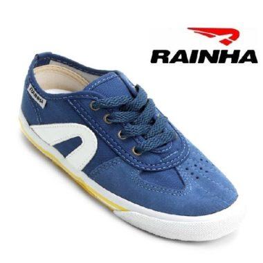 נעלי קפוארה RAINHA לילדים כחול לבן צהוב