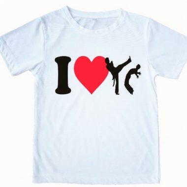 חולצה מודפסת I Love Capoeira - זום זום חנות קפוארה