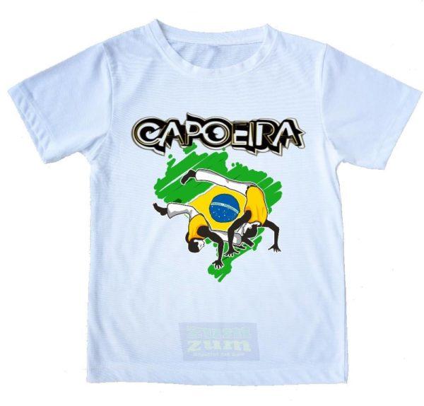 קפוארה על מפת ברזיל חולצת קפוארה זום-זום