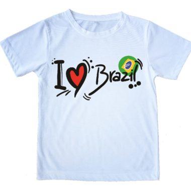 חולצת I Love Brazil - זום זום חנות קפוארה